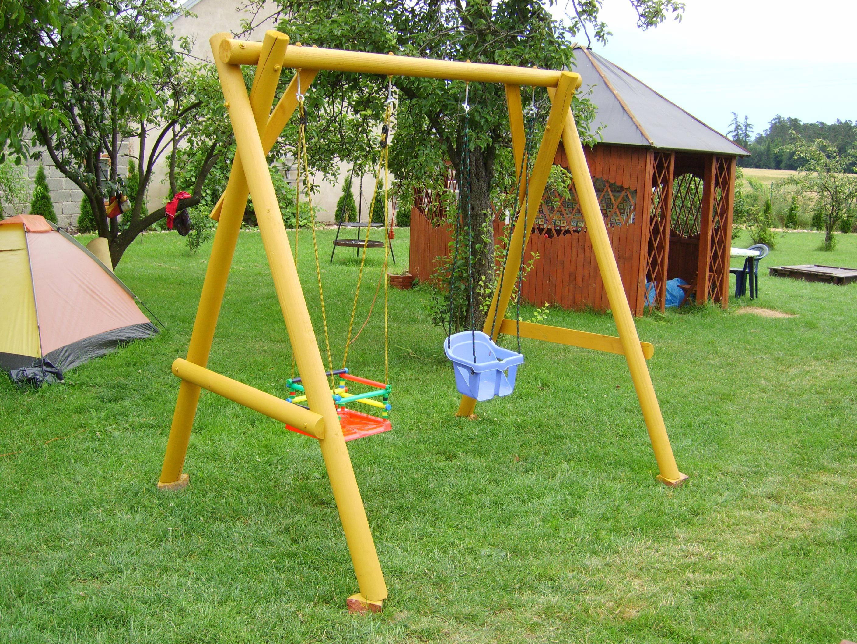 Hustawka Ogrodowa Dla Małego Dziecka : HUŚTAWKA OGRODOWA DLA DZIECKA DREWNIANA (3869043000)